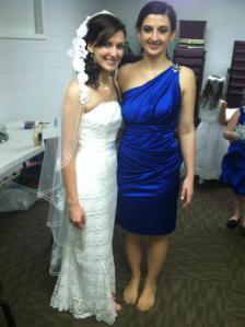 Amanda and I just before my wedding