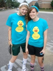 Leah & I during Ducky Derby Days our freshman year