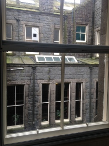 I actually really like the view from my room towards the other inside side of the castle.