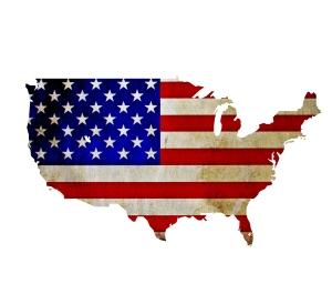 America-Flag-Map