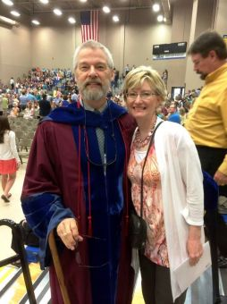 Here's my Uncle Jimbo & Aunt Lynn at the graduation.